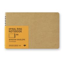 Traveler's Company - SPIRAL RING NOTEBOOK B6 WINDOW ENVELOP 12 ENVELOPES