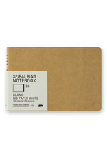 Traveler's Company SPIRAL RING NOTEBOOK B6 BLANK MD PAPER WHITE 100 SHEETS (200 PAGES)