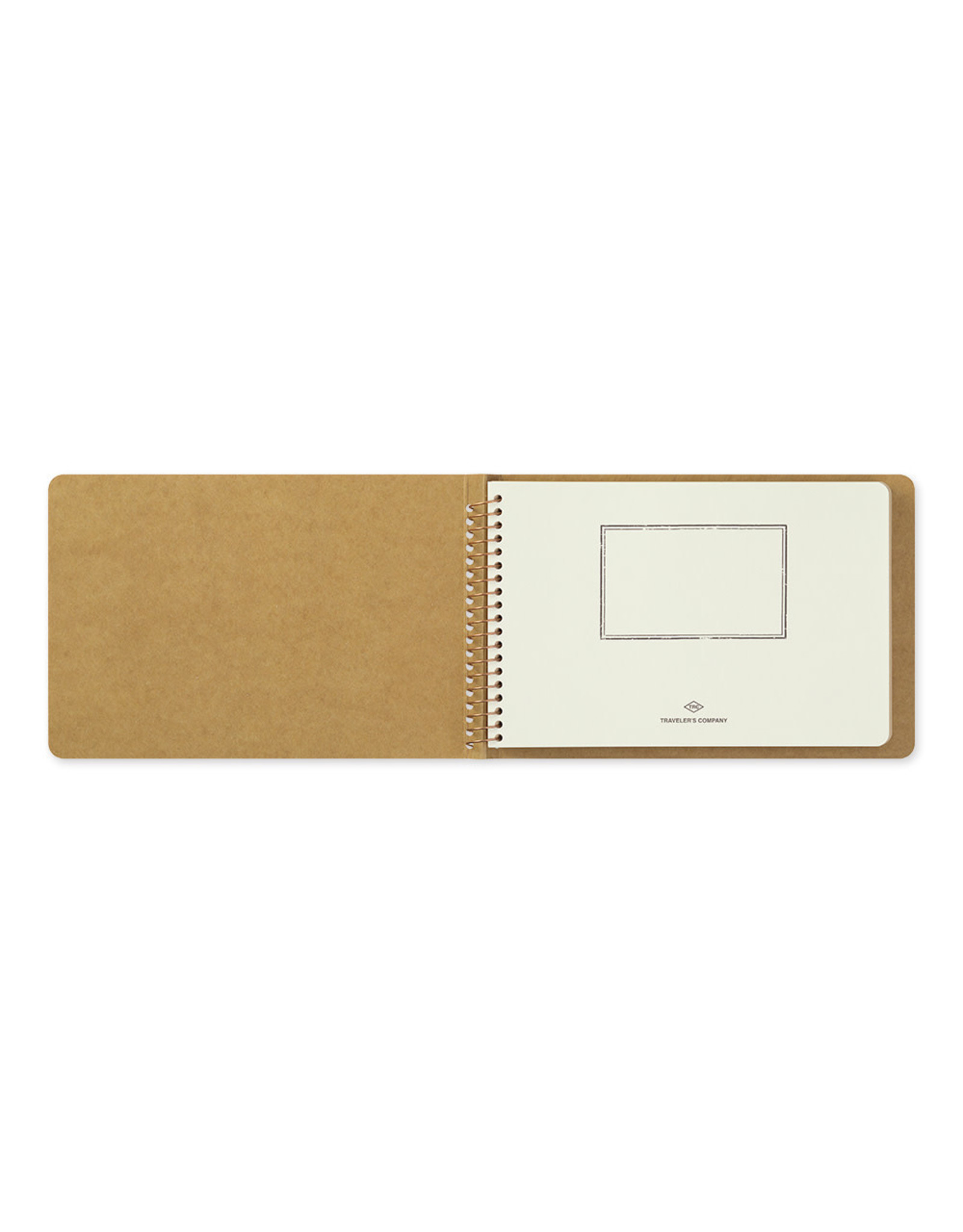 Traveler's Company SPIRAL RING NOTEBOOK B6 BLANK DW KRAFT PAPER 80 SHEETS (160 PAGES)
