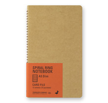 Traveler's Company 15248006 SPIRAL RING NOTEBOOK A5 SLIM CARD FILE 12 SHEETS (72 POCKETS)