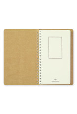 Traveler's Company SPIRAL RING NOTEBOOK A5 SLIM BLANK MD PAPER WHITE 100 SHEETS (200 PAGES)