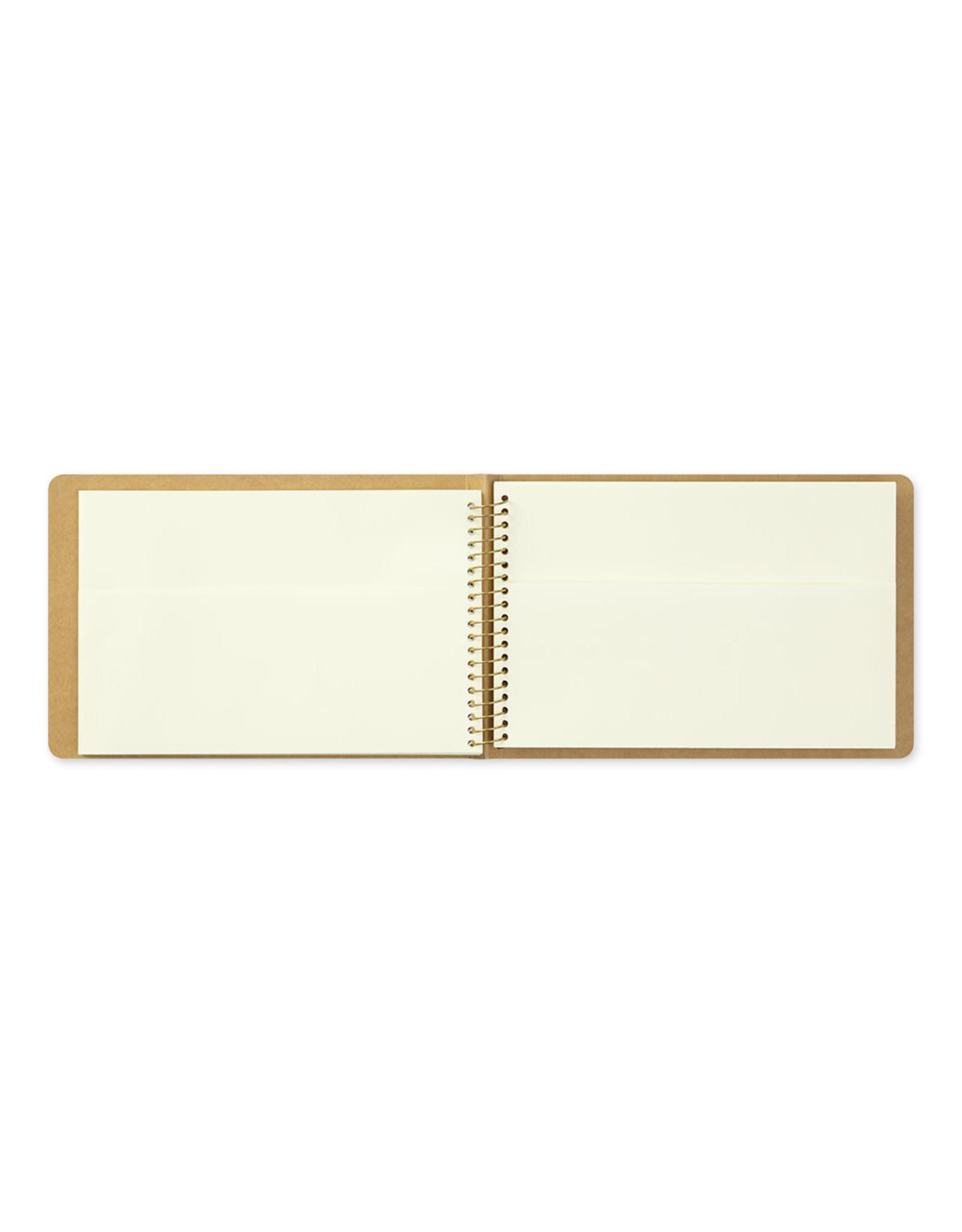 Traveler's Company SPIRAL RING NOTEBOOK B6 PAPER POCKET 16 SHEETS (32 POCKETS)