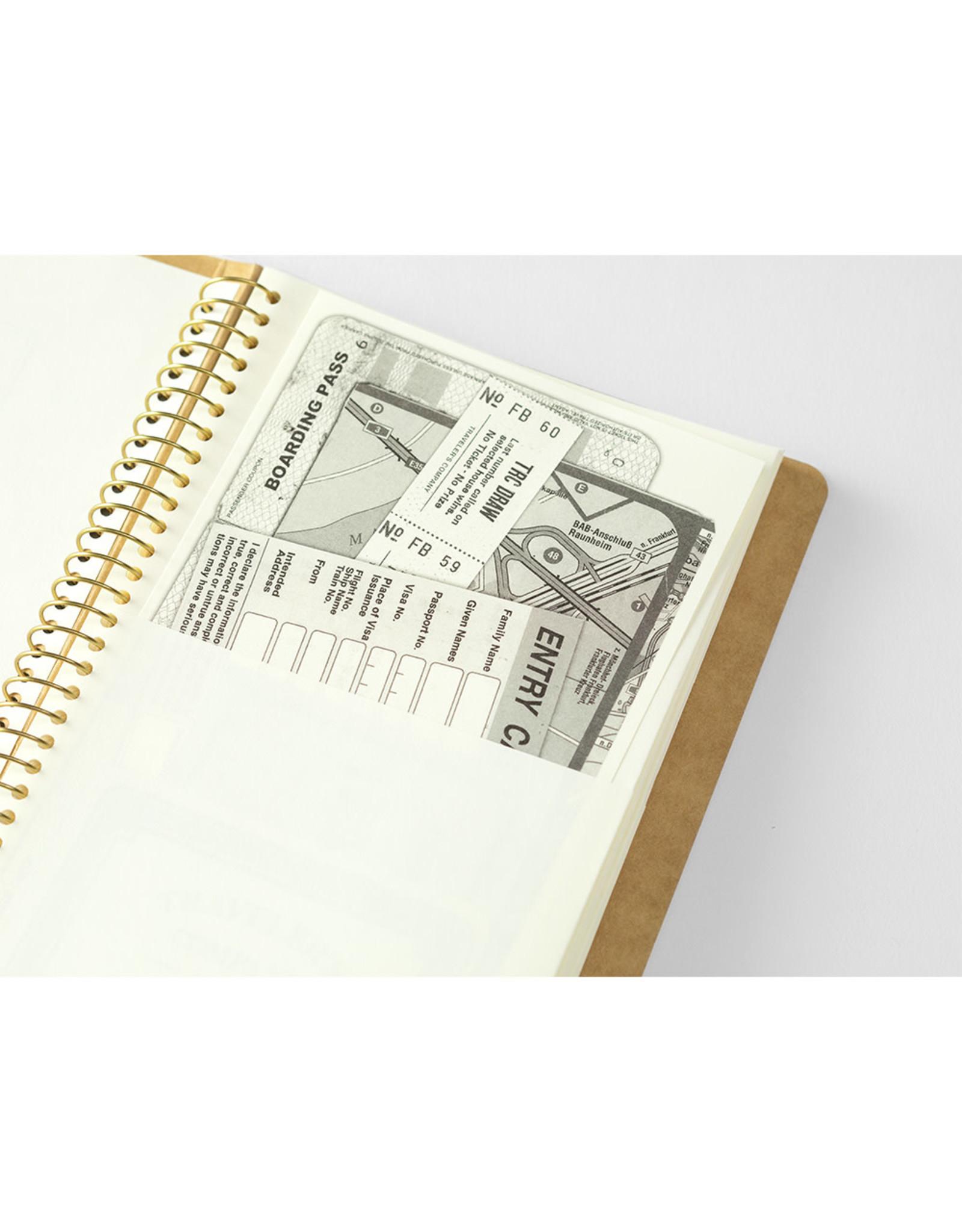Traveler's Company SPIRAL RING NOTEBOOK A5 SLIM PAPER POCKET 16 SHEETS (32 POCKETS)