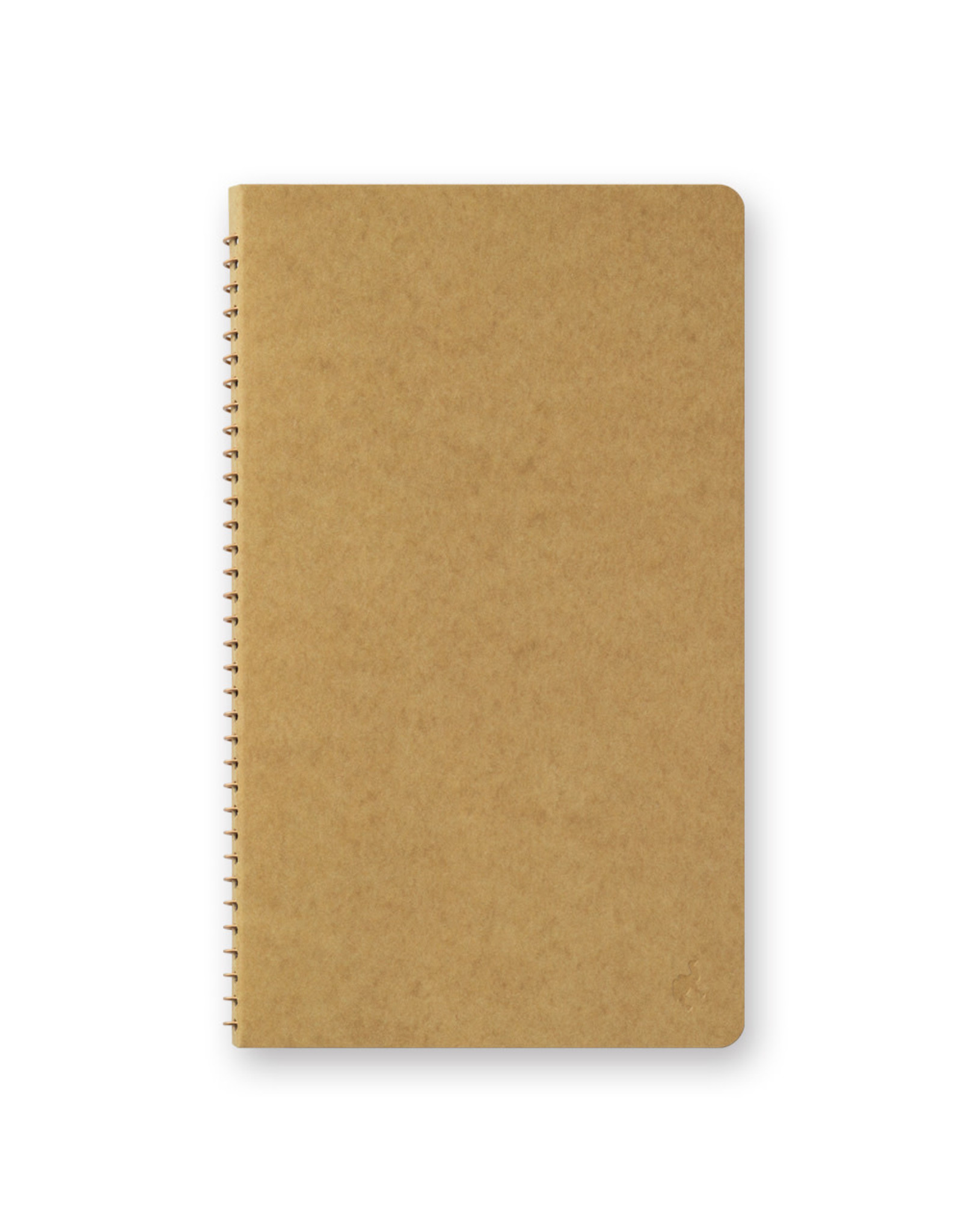 Traveler's Company SPIRAL RING NOTEBOOK A5 SLIM BLANK DW KRAFT 80 SHEETS (160 PAGES)