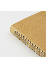 Traveler's Company SPIRAL RING NOTEBOOK A6 SLIM BLAND MD PAPER WHITE 100 SHEETS (200 PAGES)