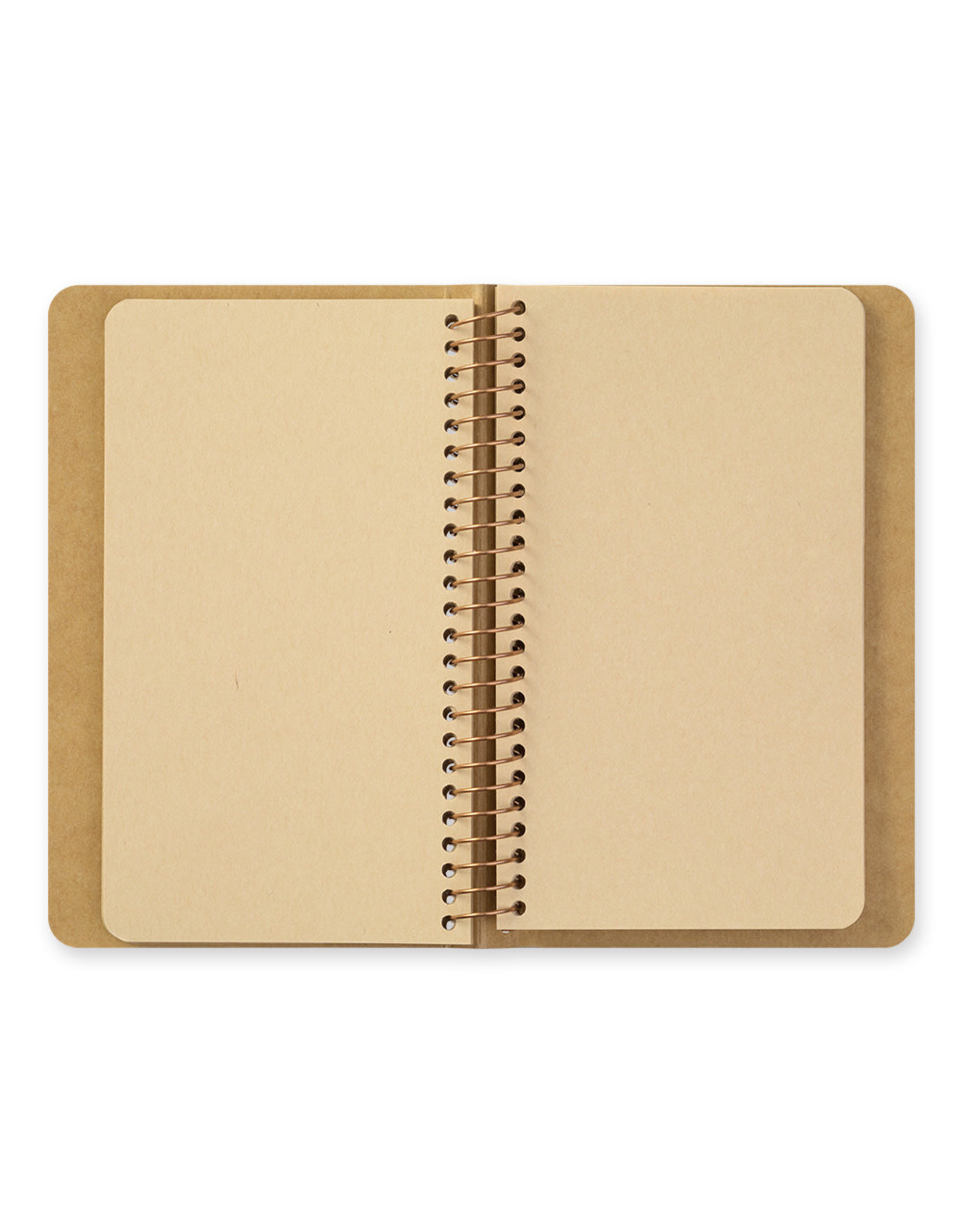 Traveler's Company SPIRAL RING NOTEBOOK A6 SLIM BLANK DW KRAFT PAPER 80 SHEETS (160 PAGES)