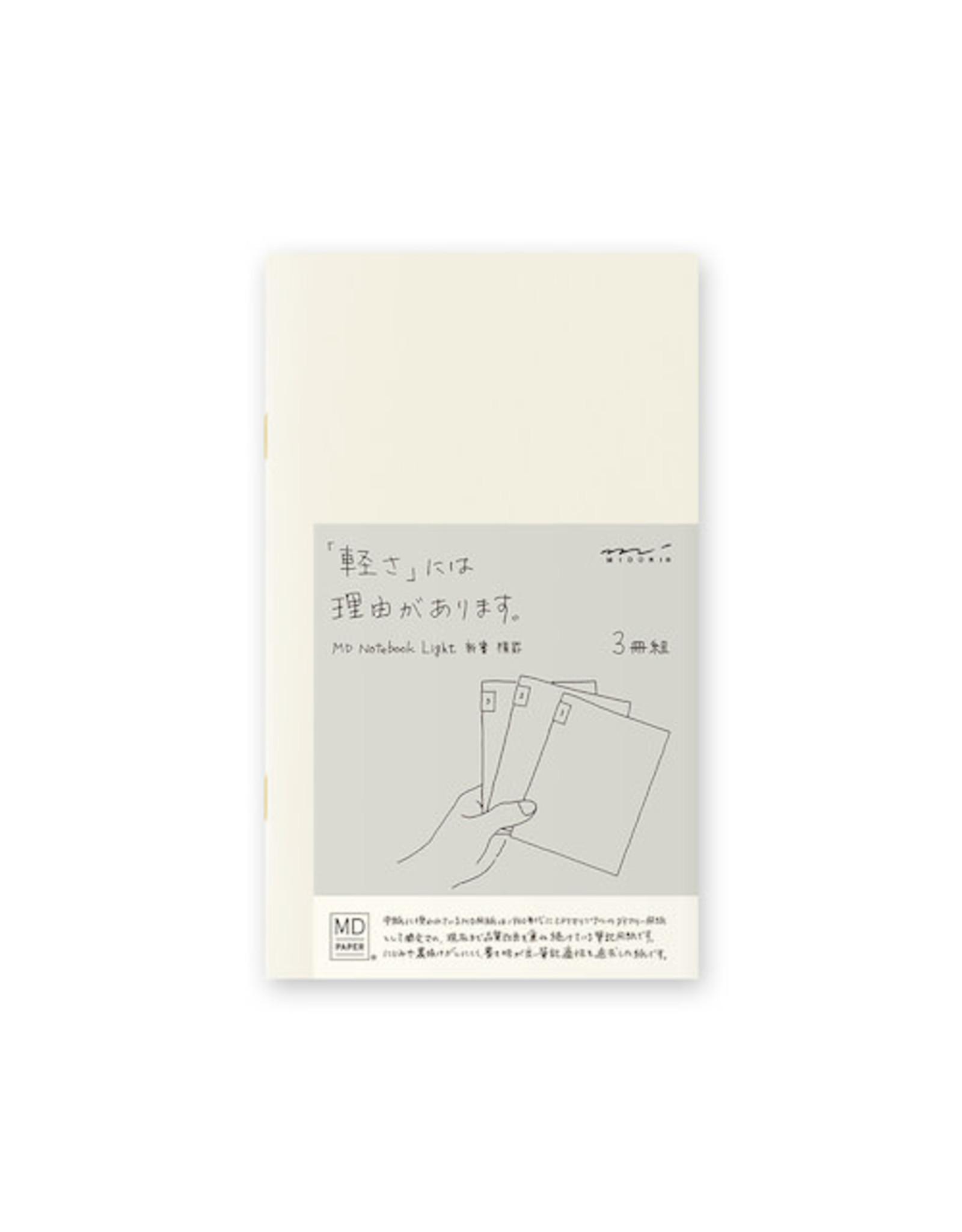 Designphil Inc. MD NOTEBOOK LIGHT  LINED 3PCS PACK B6 SLIM