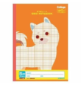 Kyokuto Associates co., ltd. COLLEGE ANIMAL  NOTEBOOK GRID B5 ORANGE DOG