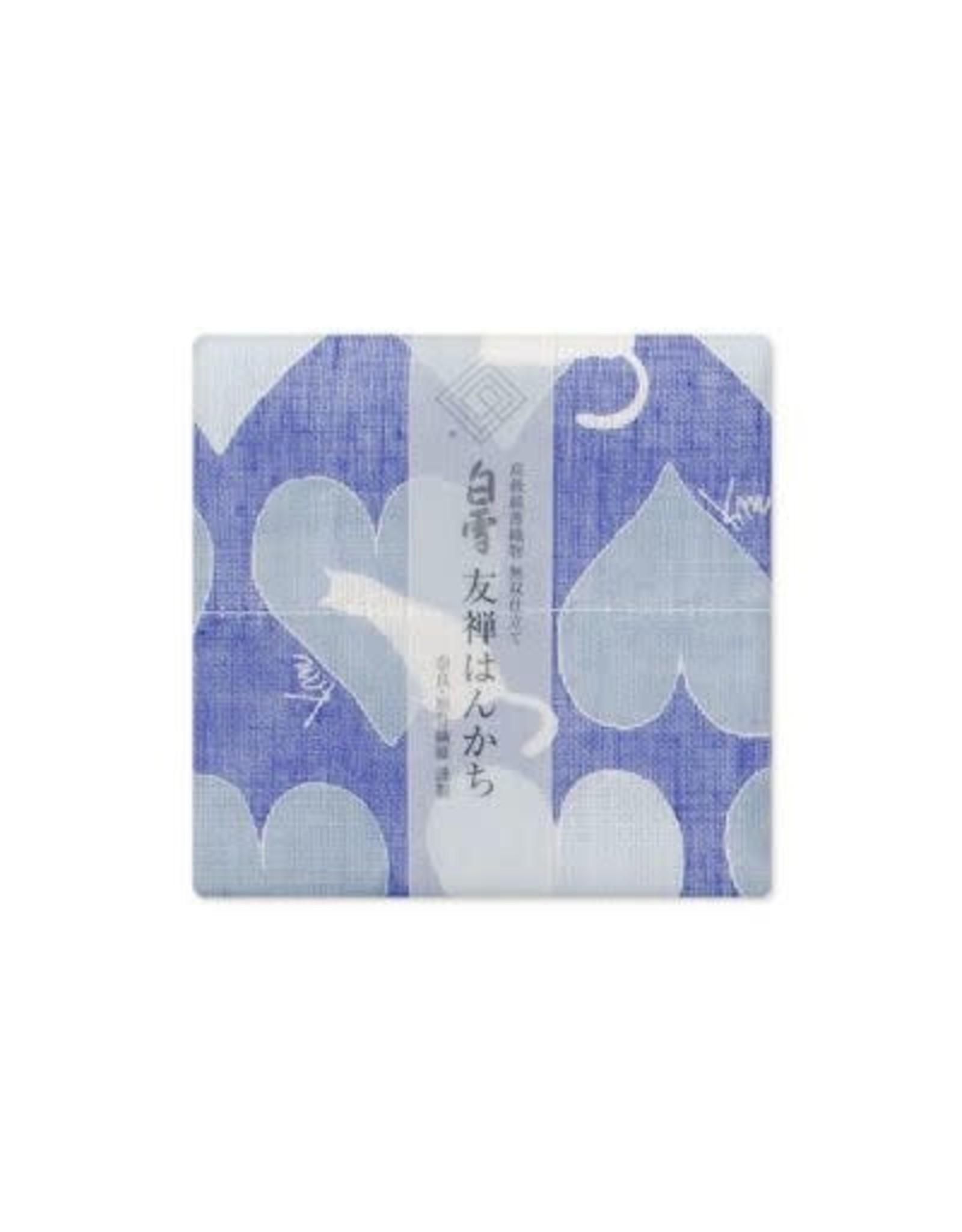 Shirayuki Fukin Co., Ltd. SHIRAYUKI FUKIN HANDKERCHIEF 30cm x 30 cm CAT BLUE