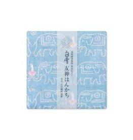 Shirayuki Fukin Co., Ltd. SHIRAYUKI FUKIN HANDKERCHIEF 30cm x 30 cm BUDDA BLUE