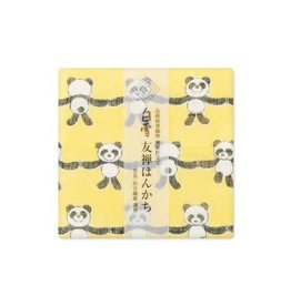 Shirayuki Fukin Co., Ltd. SHIRAYUKI FUKIN HANDKERCHIEF 30cm x 30 cm PANDA YELLOW