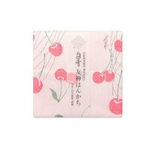 Shirayuki Fukin Co., Ltd. - SHIRAYUKI FUKIN HANDKERCHIEF 30cm x 30 cm CHERRY PINK