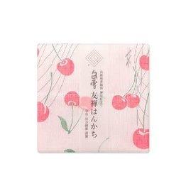 Shirayuki Fukin Co., Ltd. SHIRAYUKI FUKIN HANDKERCHIEF 30cm x 30 cm CHERRY PINK