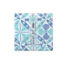 Shirayuki Fukin Co., Ltd. - SHIRAYUKI FUKIN HANDKERCHIEF 30cm x 30 cm HAWAIAN QUILT BLUE
