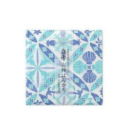 Shirayuki Fukin Co., Ltd. SHIRAYUKI FUKIN HANDKERCHIEF 30cm x 30 cm HAWAIAN QUILT BLUE