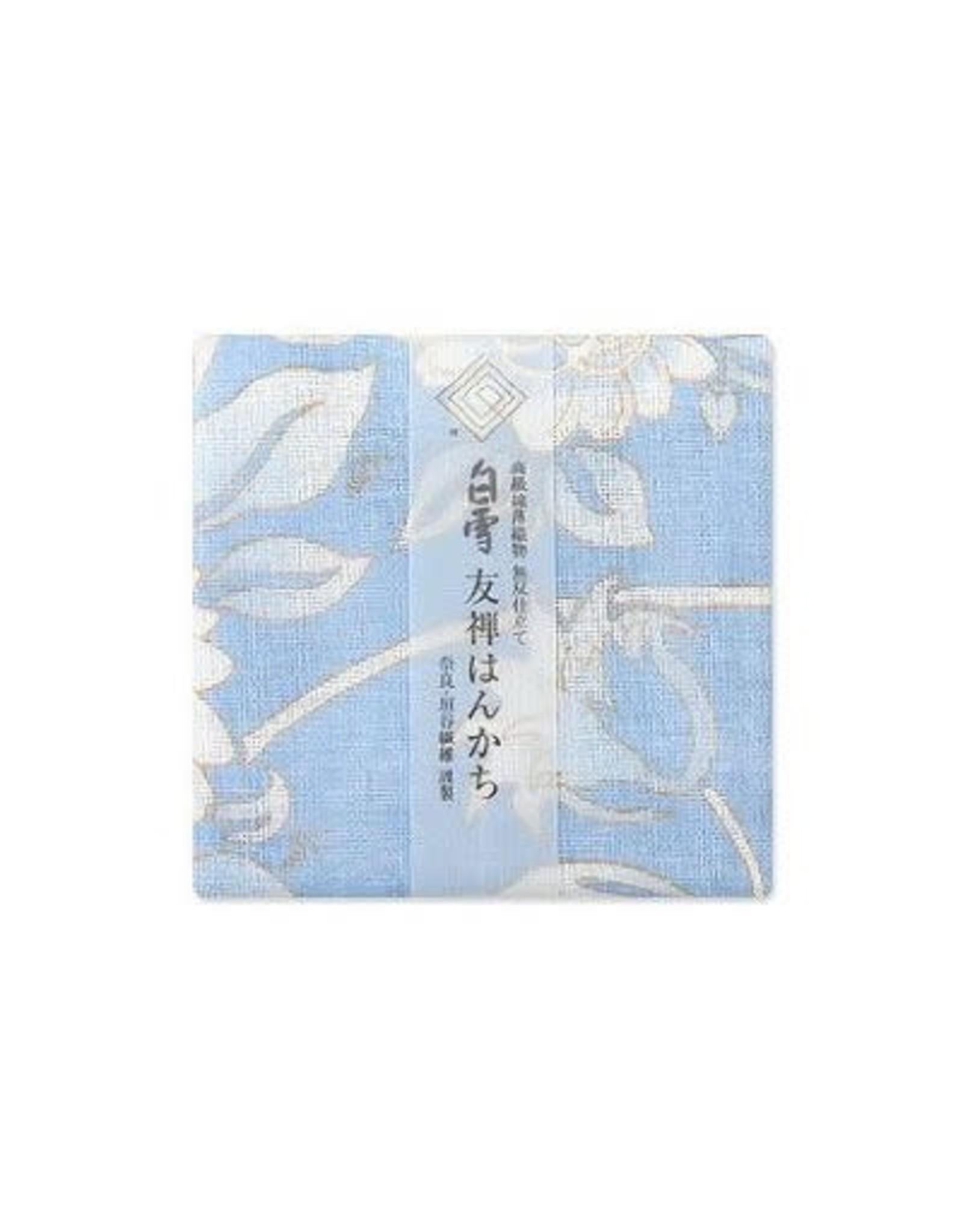 Shirayuki Fukin Co., Ltd. SHIRAYUKI FUKIN HANDKERCHIEF 30cm x 30 cm HIMAWARI BLUE