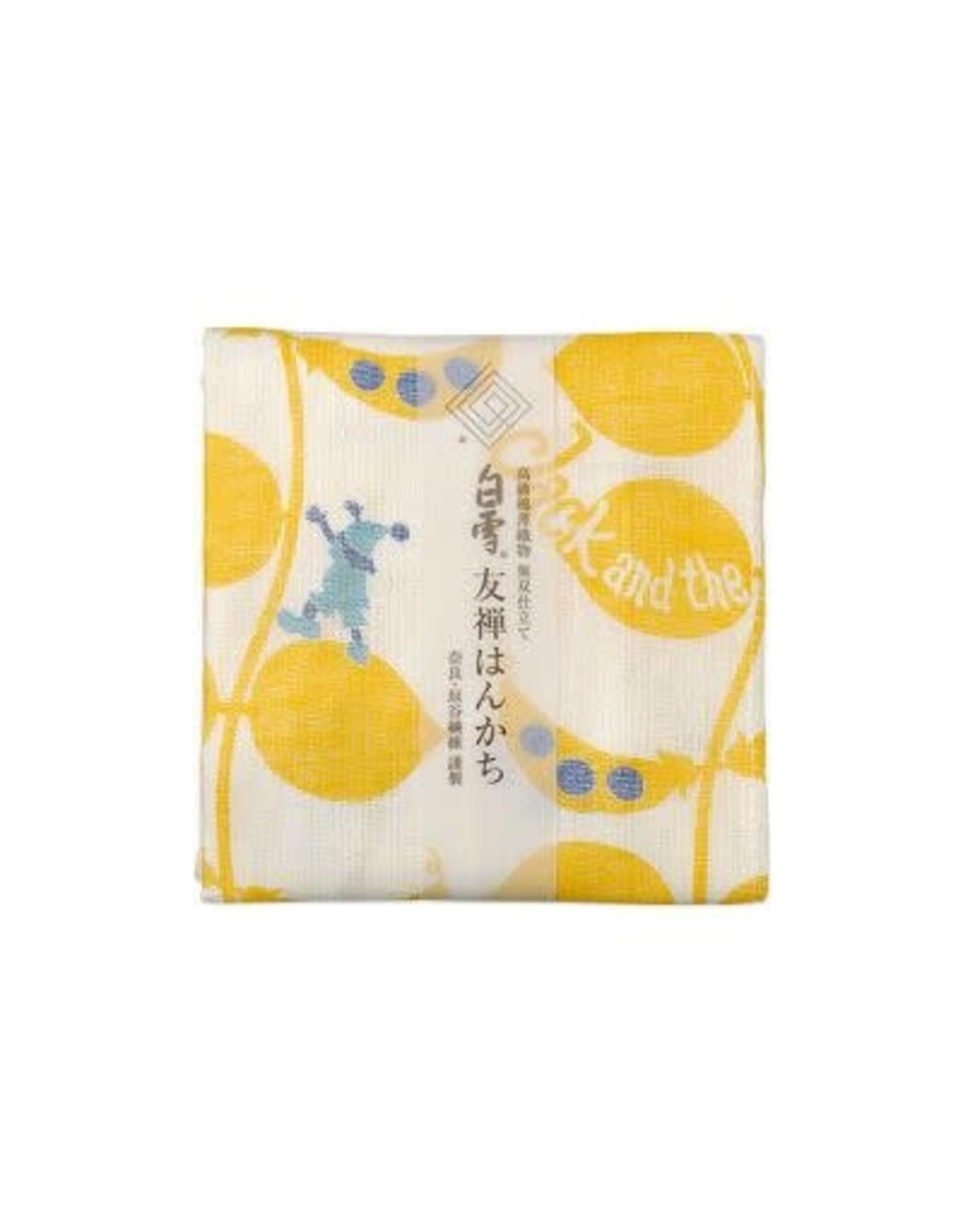 Shirayuki Fukin Co., Ltd. SHIRAYUKI FUKIN HANDKERCHIEF 30cm x 30 cm JACK TO MAMENOKI YELLOW