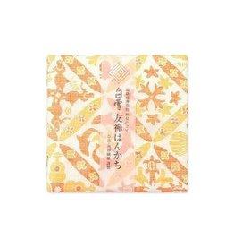 Shirayuki Fukin Co., Ltd. SHIRAYUKI FUKIN HANDKERCHIEF 30cm x 30 cm HAWAIAN QUILT ORANGE