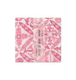 Shirayuki Fukin Co., Ltd. SHIRAYUKI FUKIN HANDKERCHIEF 30cm x 30 cm HAWAIAN QUILT RED