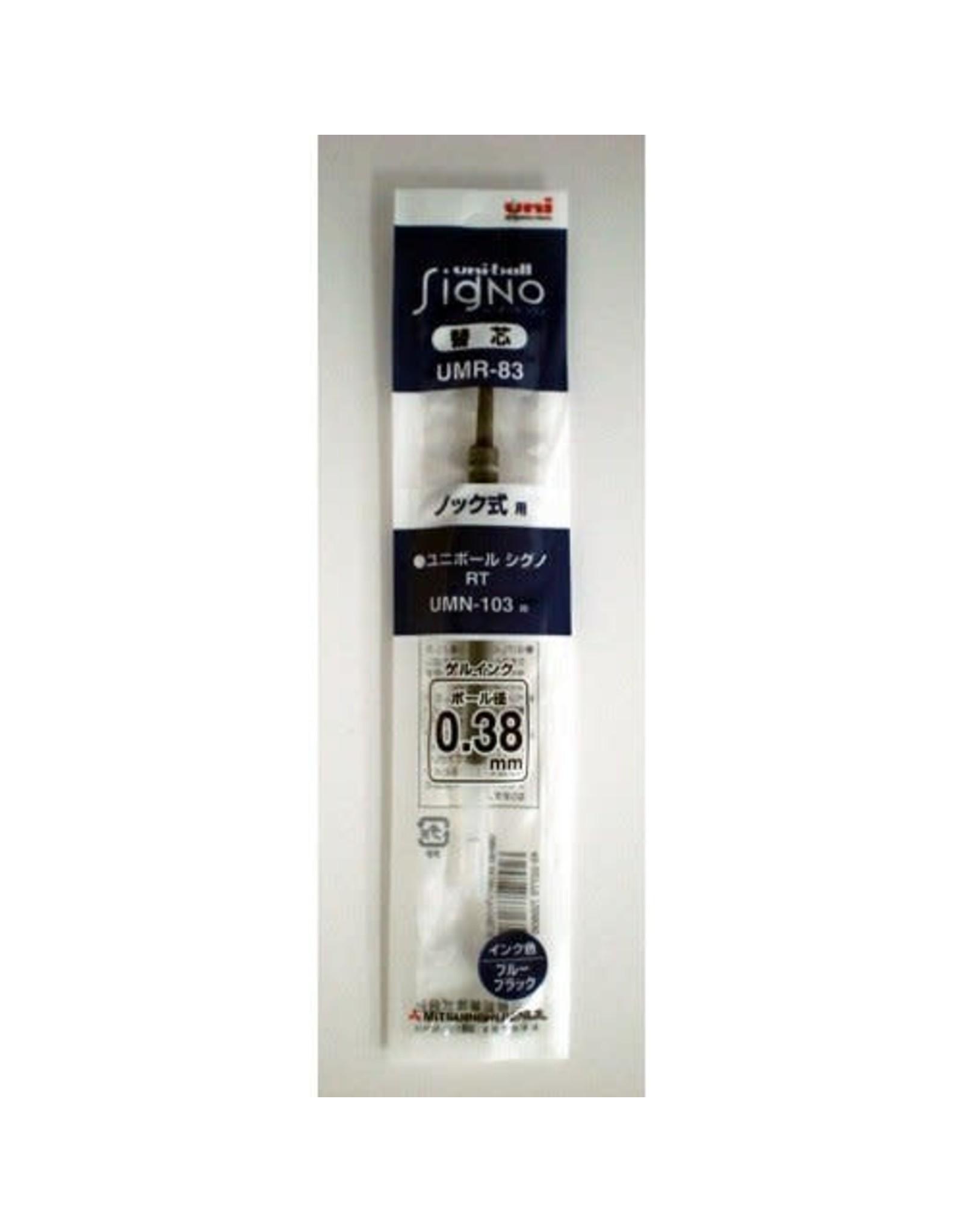 Mitsubishi Pencil Co., Ltd. UNI-BALL SIGNO REFILL BLUE BLACK 0.38 MM UMR-83