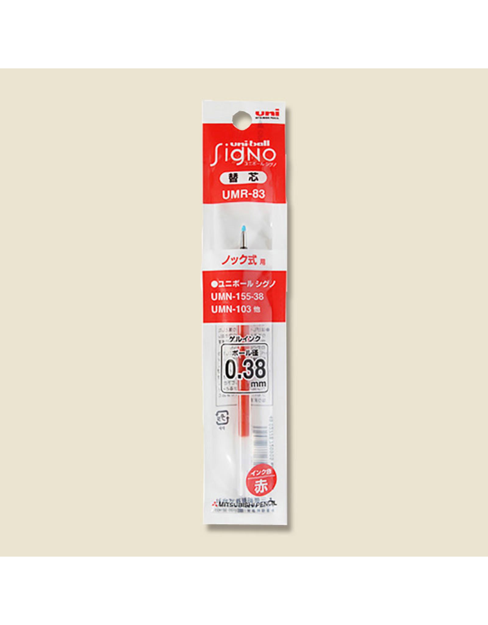 Mitsubishi Pencil Co., Ltd. UNI-BALL SIGNO REFILL RED 0.38 MM  UMR-83
