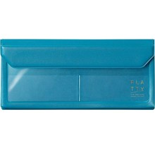 KING JIM CO., LTD. 5358LB FLATTY PENCASE SIZE BLUE