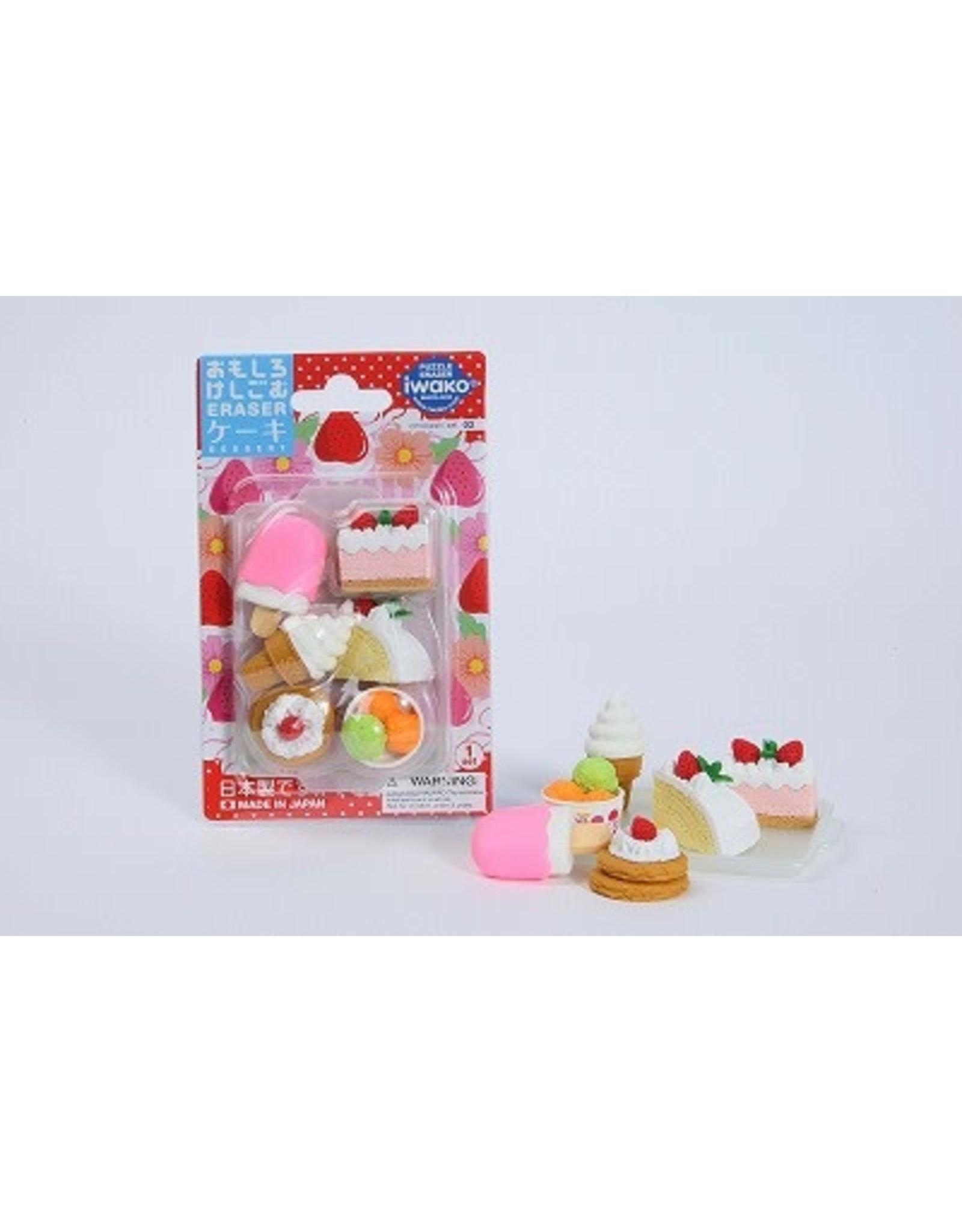 IWAKO IWAKO UNIQUE ERASER BLISTER CAKE & ICE CREAM