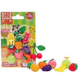 IWAKO IWAKO UNIQUE ERASER BLISTER PACK FRUITS