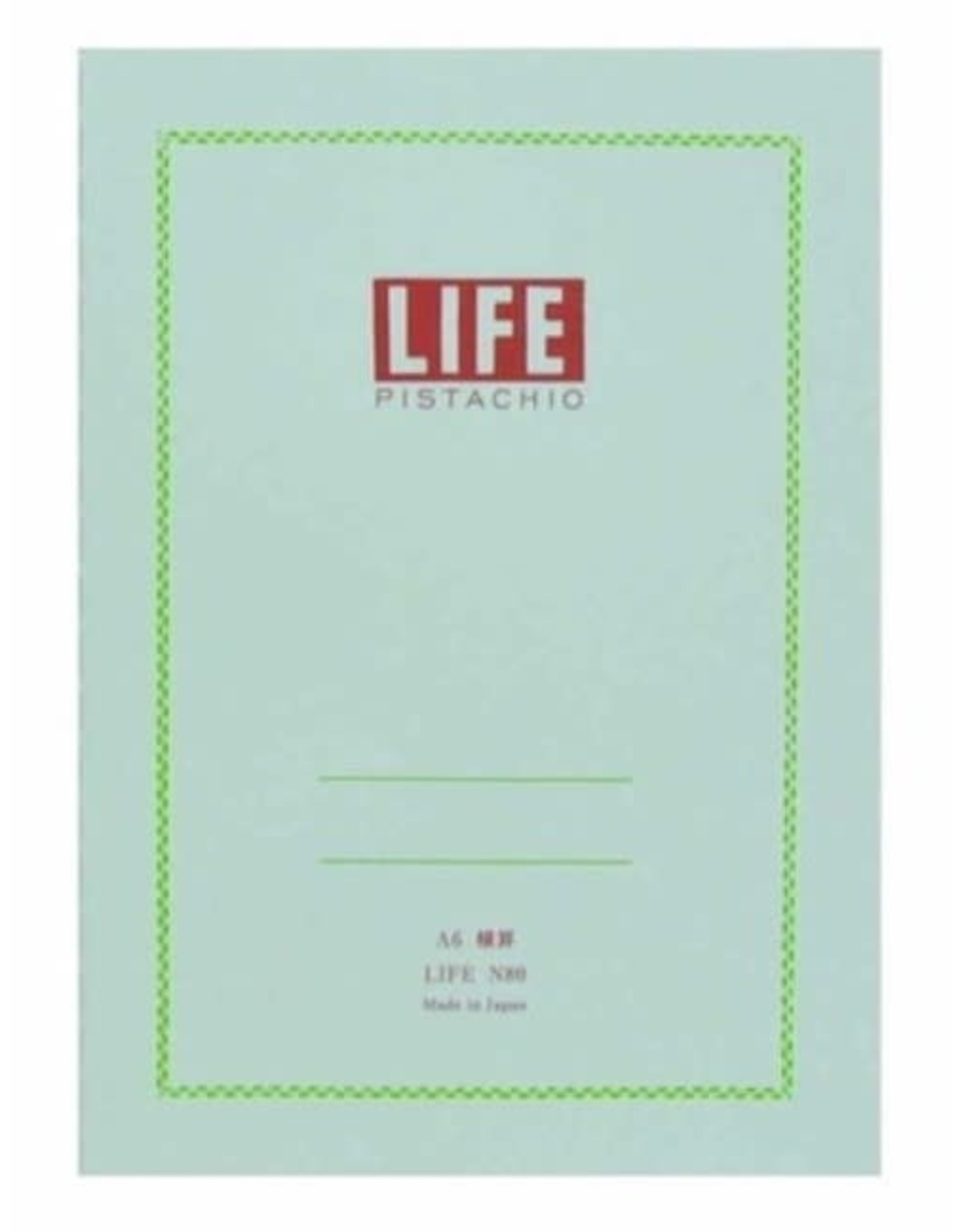 LIFE CO.,LTD. PISTACHIO A6 RULED 32 PAGES N80