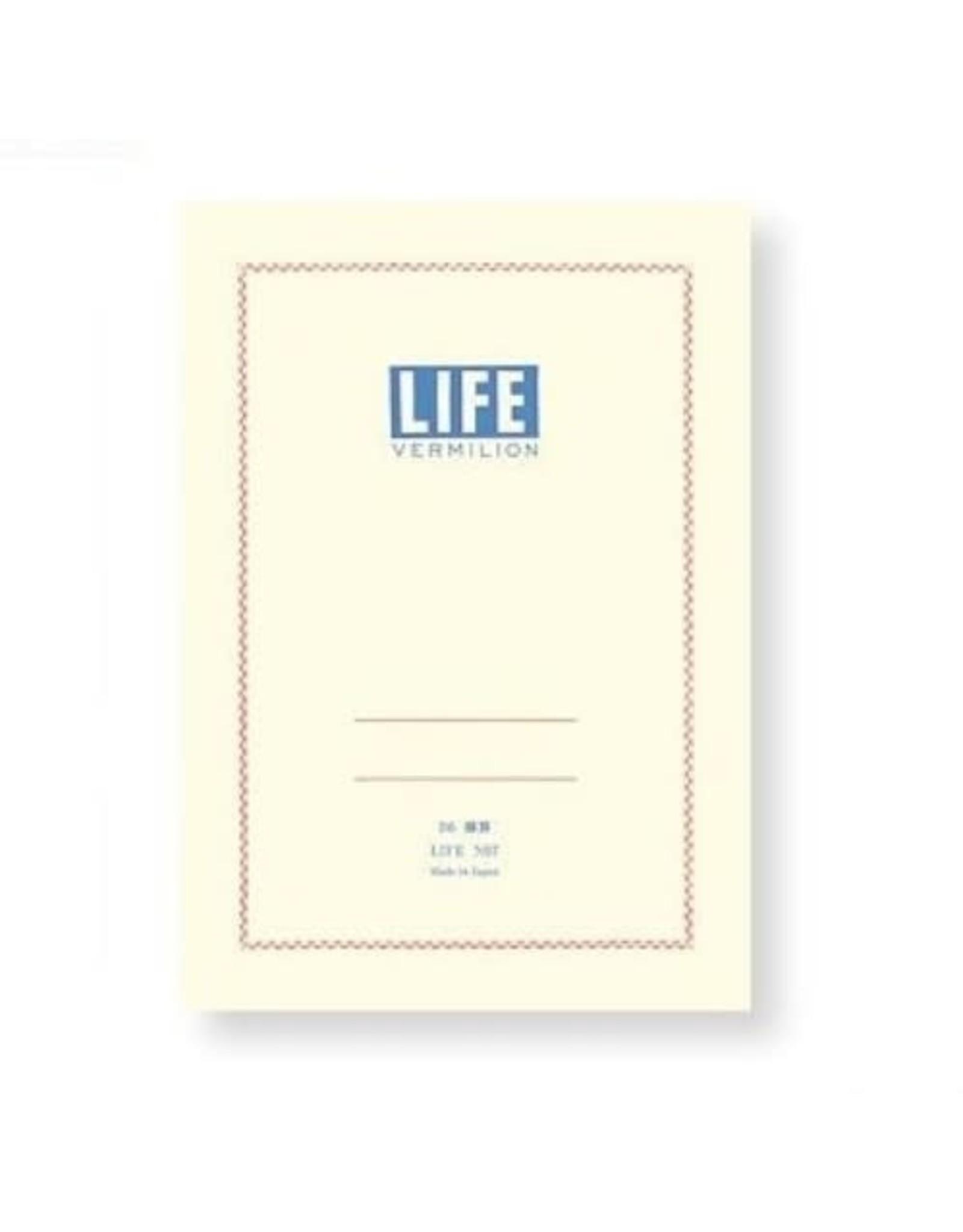 LIFE CO.,LTD. VERMILION B6 RULED 32 PAGES N67