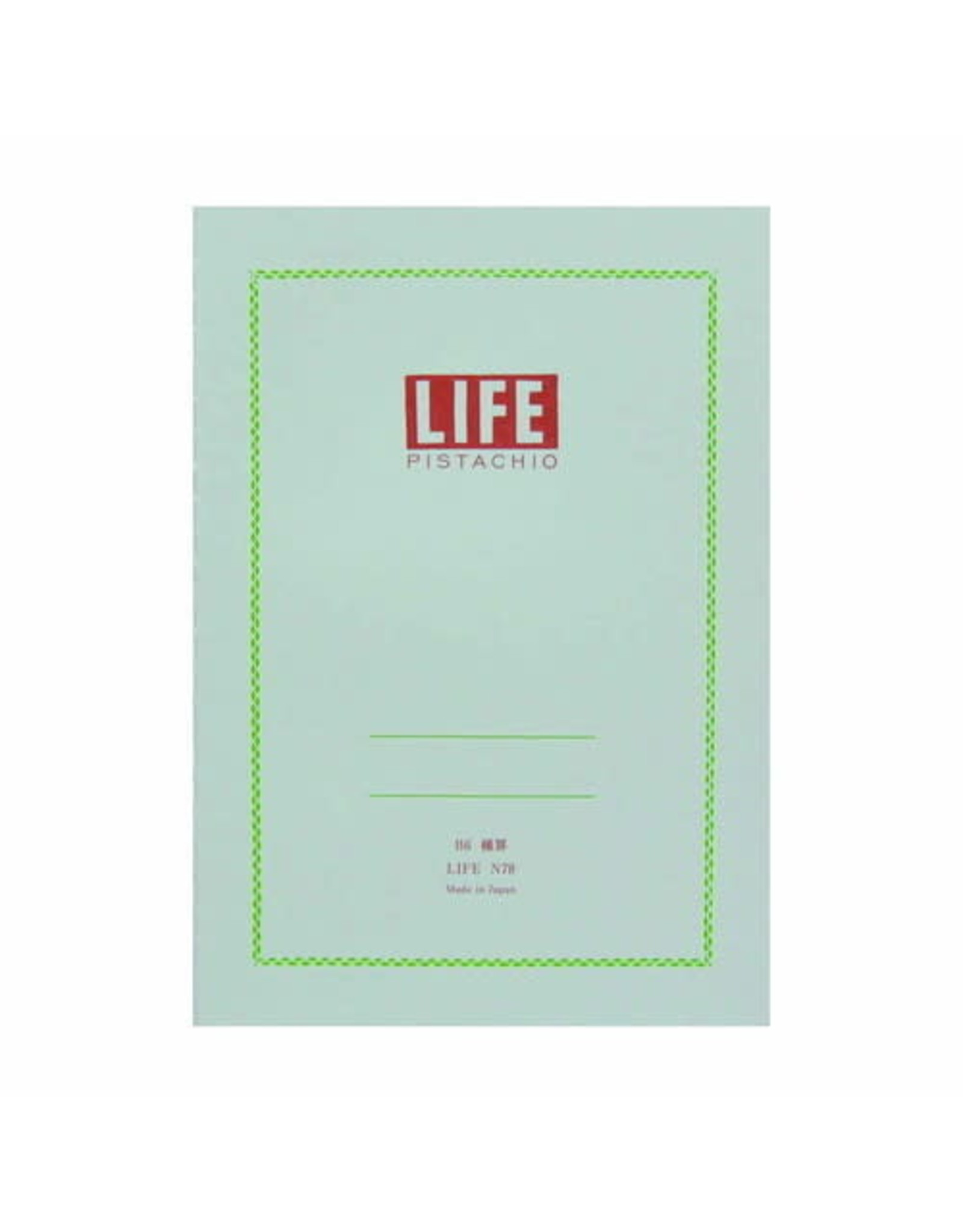 LIFE CO.,LTD. PISTACHIO B6 RULED 32 PAGES N78