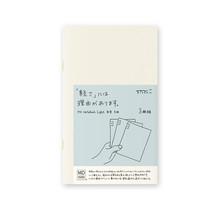 Designphil Inc. 15211006 MD NOTEBOOK LIGHT GRID 3PCS PACK ENGLISH CAPTION B6 SLIM