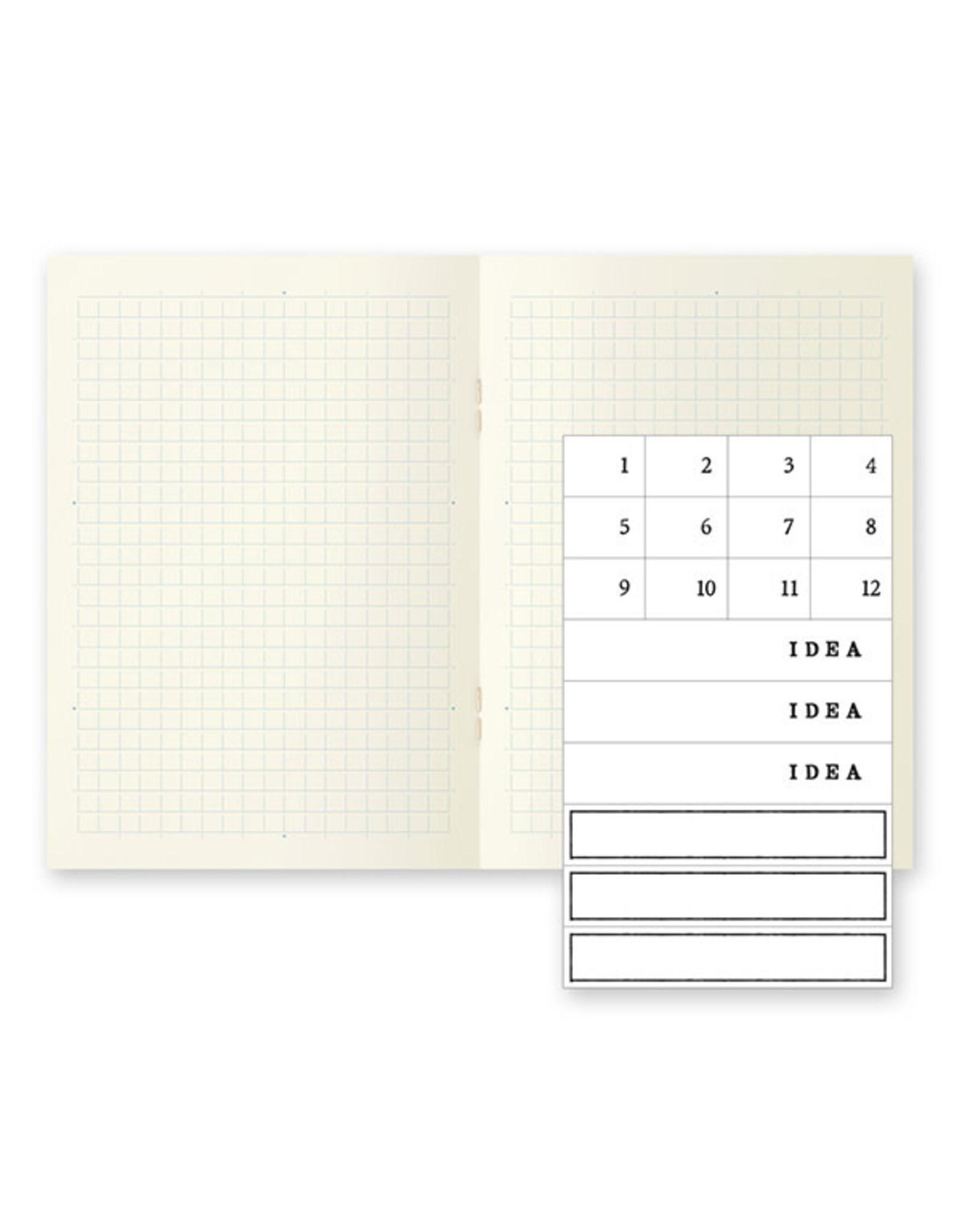 Designphil Inc. MD NOTEBOOK LIGHT BUNKO GRID 3PCS PACK