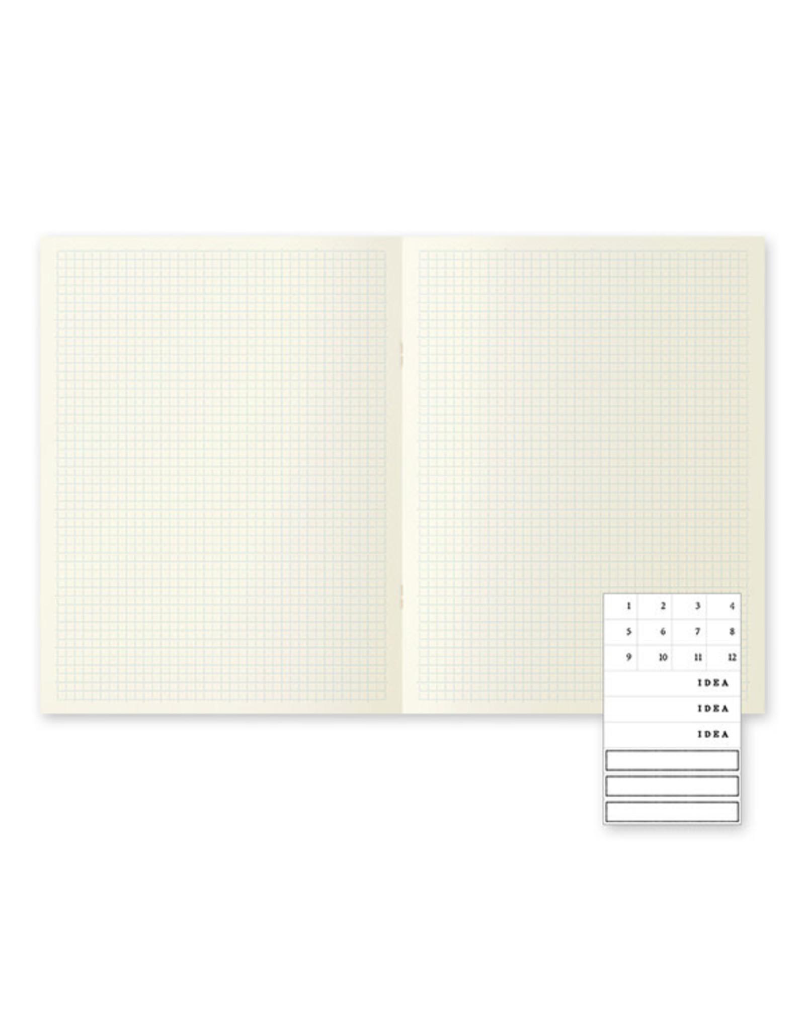 Designphil Inc. MD NOTEBOOK LIGHT  GRIDDED 3PCS PACK H275×W210×D3mm