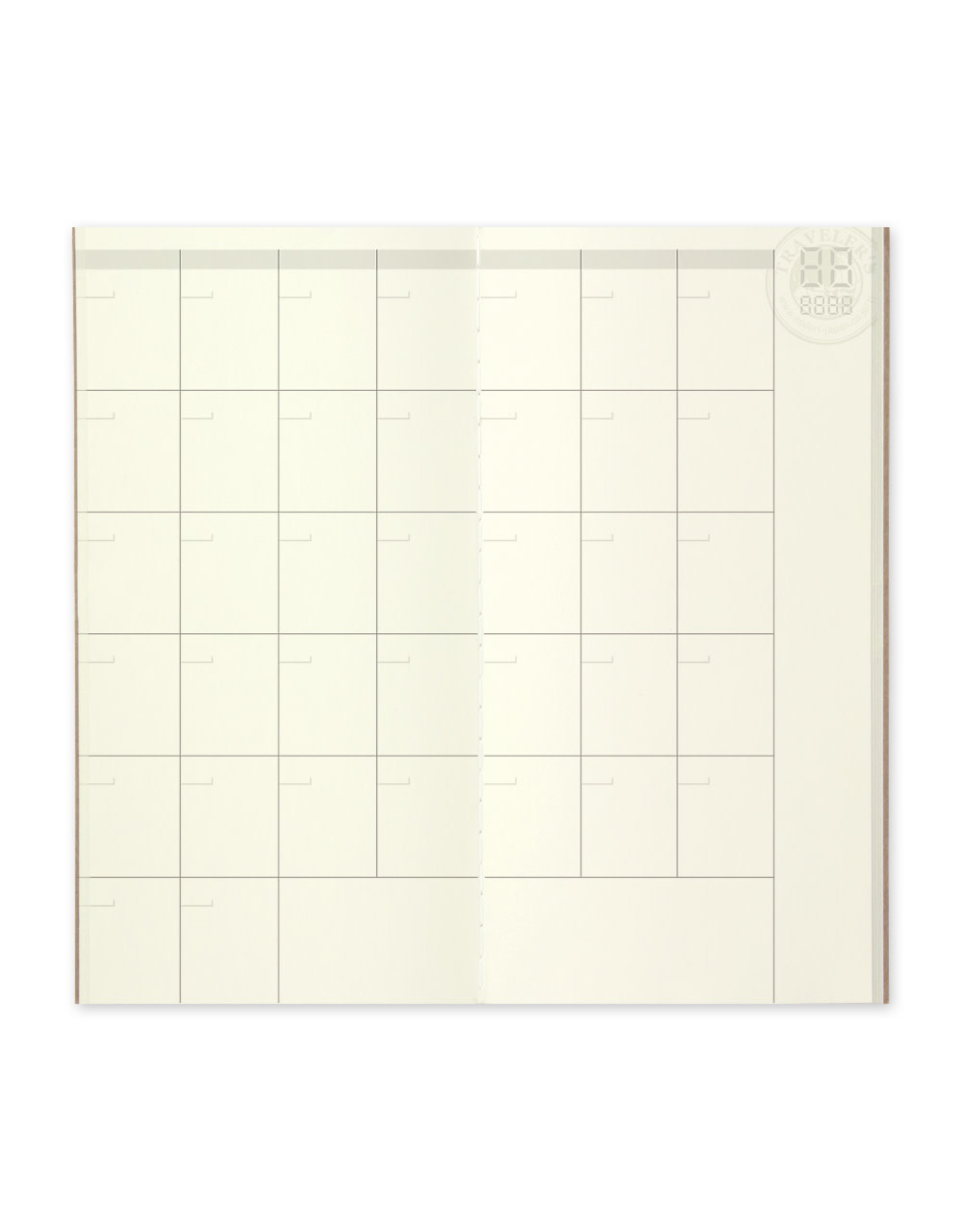 Traveler's Company 017. FREE DIARY MONTHLY MIDORI TRAVELER'S NOTEBOOK
