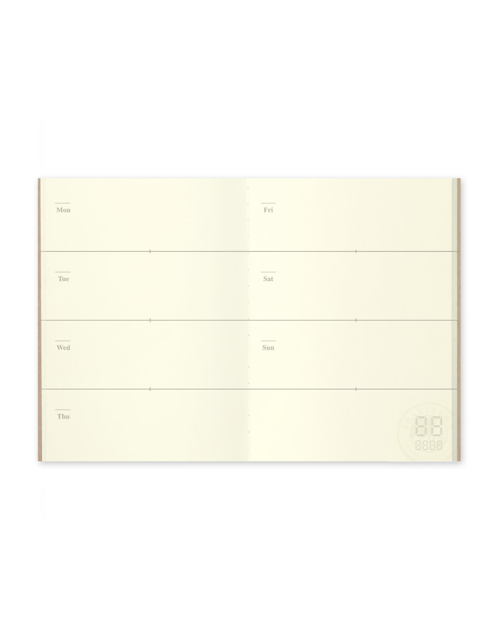 Traveler's Company 007. FREE DIARY WEEKLY MIDORI TRAVELER'S NOTEBOOK PASSPORT SIZE