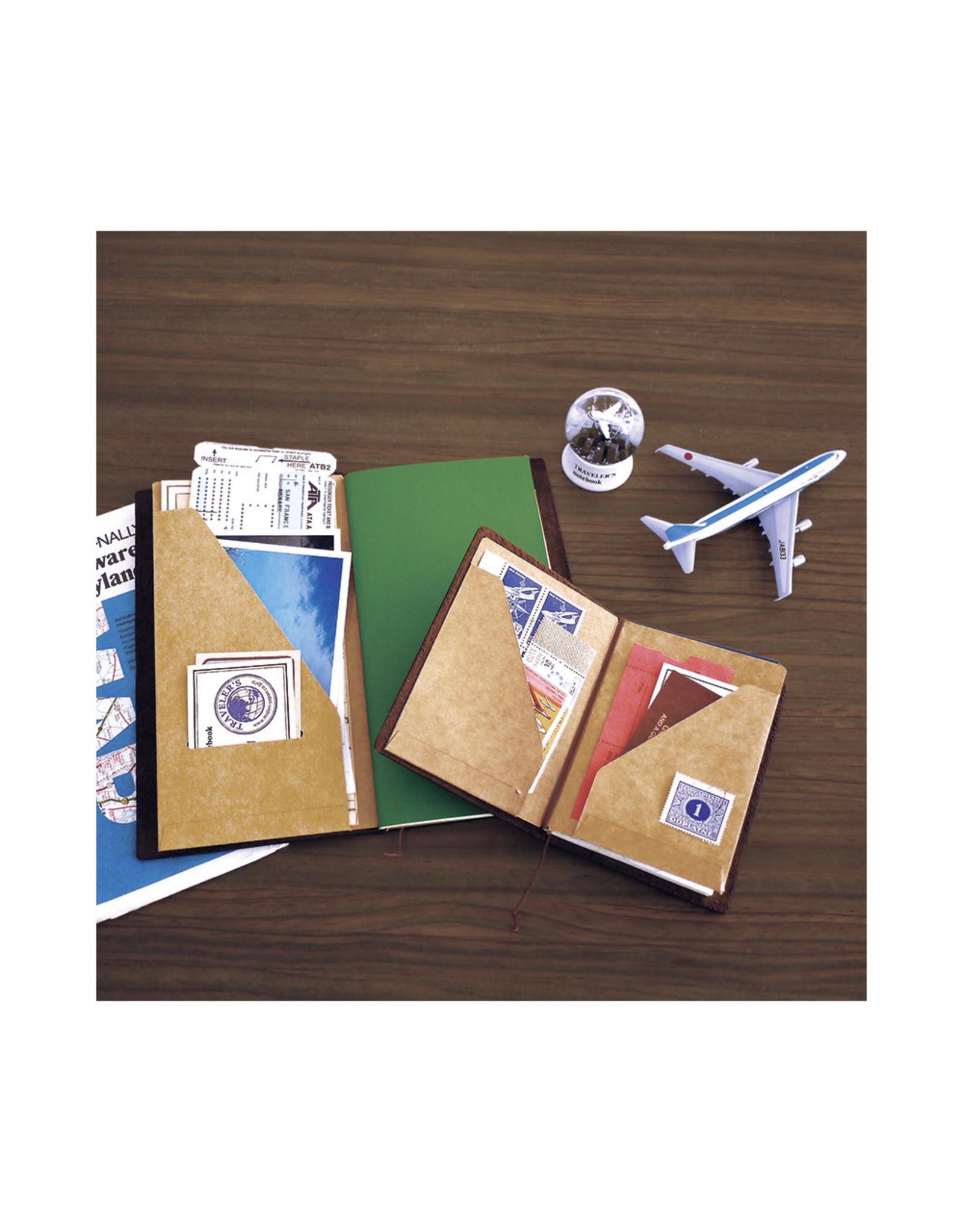 Traveler's Company 010. KRAFT FILE MIDORI TRAVELER'S NOTEBOOK PASSPORT SIZE