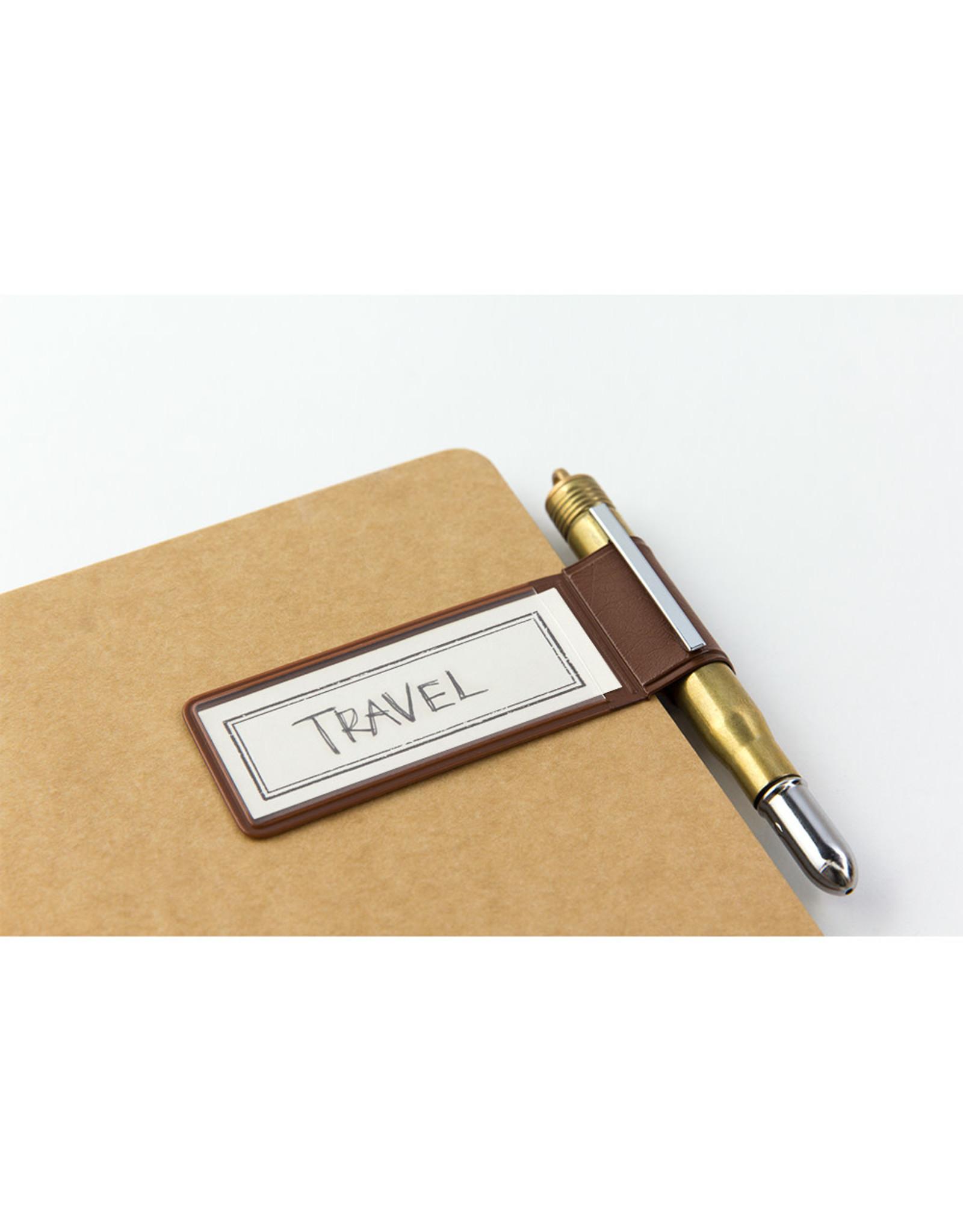 Traveler's Company TRAVELER'S NOTEBOOK PEN HOLDER STICKER BROWN