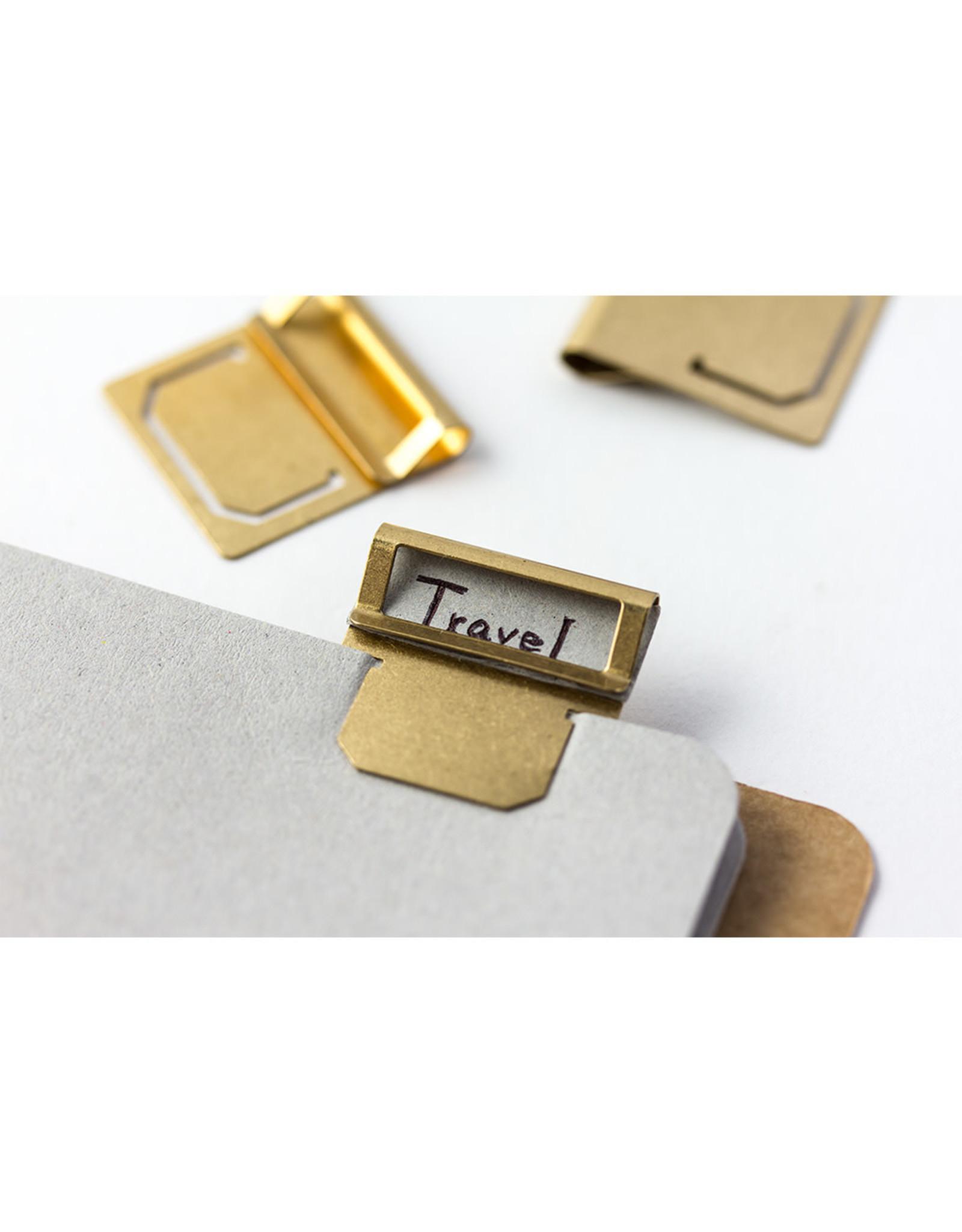 Traveler's Company BRASS INDEX CLIP