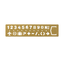 Traveler's Company 42168006 BRASS TEMPLATE BOOKMARK NUMBER