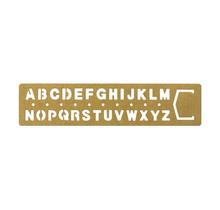 Traveler's Company - BRASS TEMPLATE BOOKMARK ALPHABET