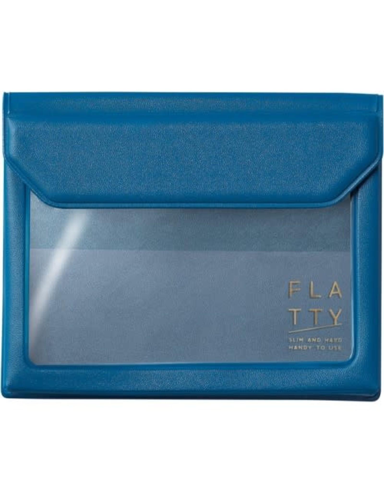 KING JIM CO., LTD. FLATTY CARD DARK BLUE