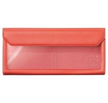 KING JIM CO., LTD. 5358RD FLATTY PENCASE SIZE RED