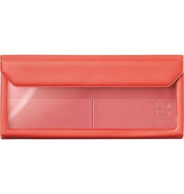 KING JIM CO., LTD. FLATTY PENCASE SIZE RED