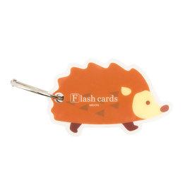 Designphil Inc. MIDORI FLASH CARD HEDGEHOG (WORD CARD)