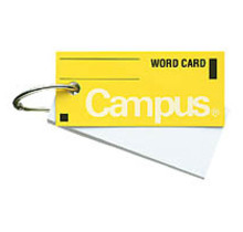 KOKUYO - CAMPUS WORD CARD YELLOW
