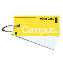 KOKUYO CAMPUS WORD CARD YELLOW