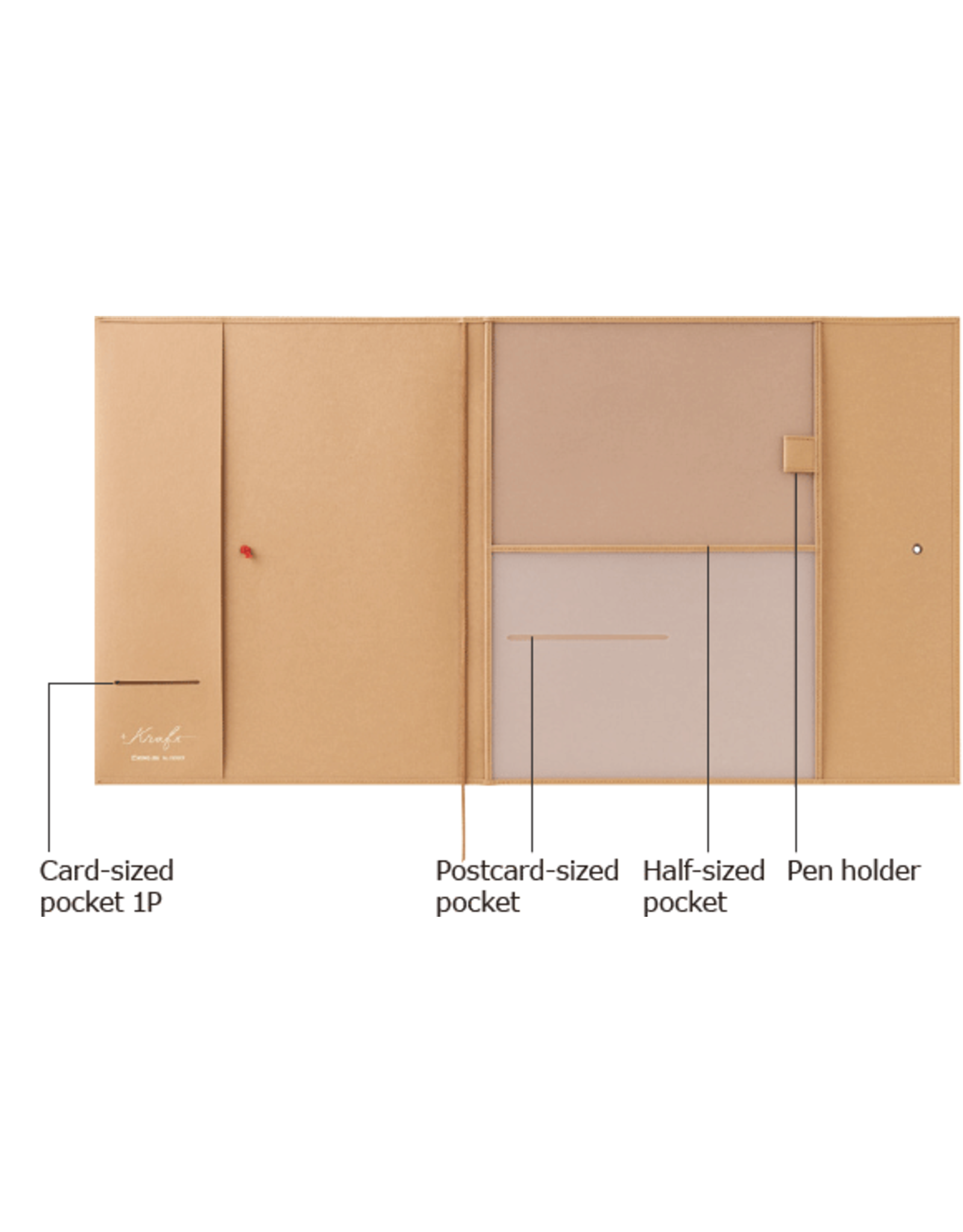 KING JIM CO., LTD. KRAFT PLASTIC FILE HOLDER COVER A4 BROWN