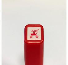 Kodomo No Kao - SCHEDULE SELF-INKING STAMP 568 PRAM