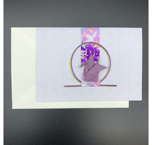 HYOGENSHA 27-328-250 MIZUBIKI GREETING CARD PURPLE